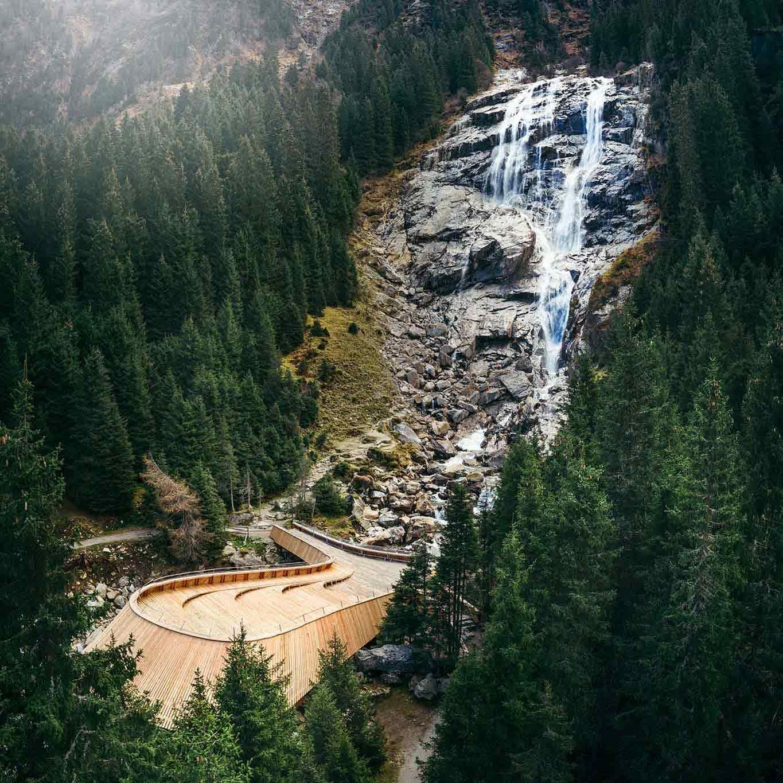 the WildeWasserWeg, a spectacular trail in Stubaital