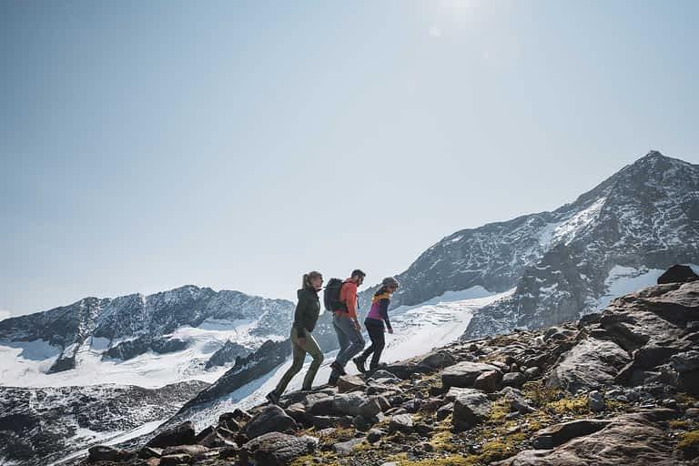 Ein Gletscherweg am Stubaier.