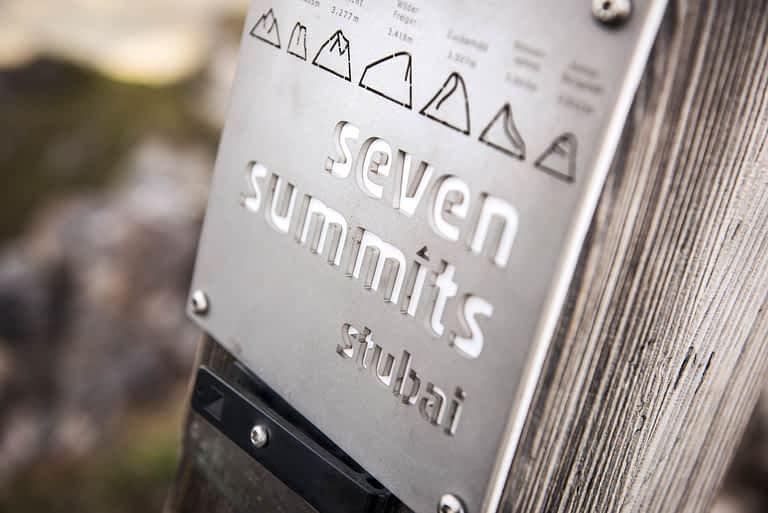 the Seven Summits in the Stubai Alps