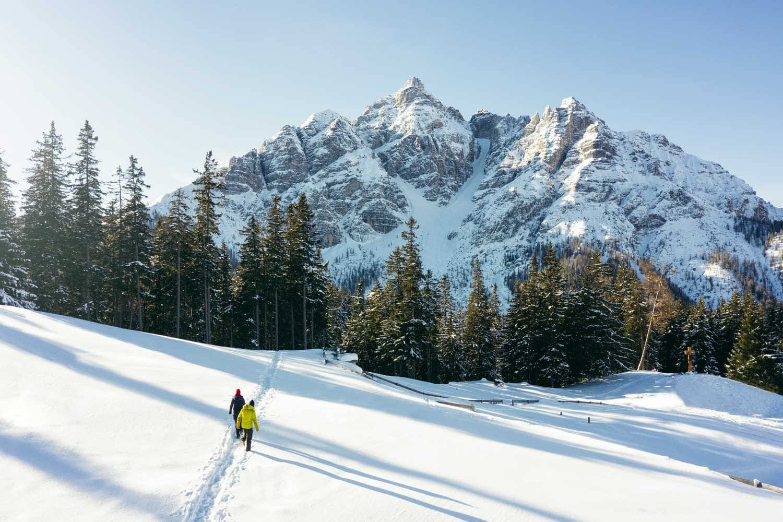 Schneewanderung Richtung Serles